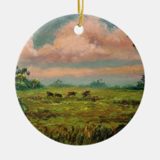 Wild Hog Hunting in Florida Ceramic Ornament