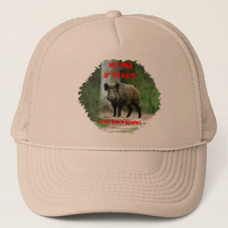 Wild Hogs Of The South,Author Richard Schamber Trucker Hat