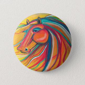 Wild Horse 2 Inch Round Button