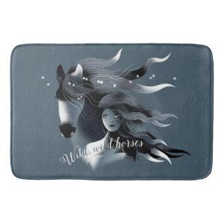 Wild Horse and a Girl Bathroom Mat