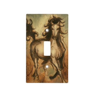 Wild Horse and Warm Colors Light Switch Cover