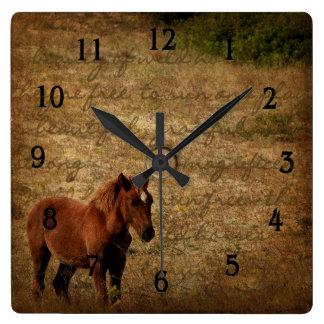 Wild Horse Clock