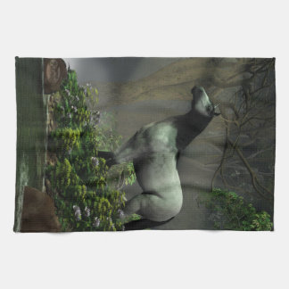 Wild Horse in the Forest Kitchen Towel