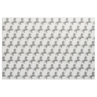 Wild horse rearing up fabric