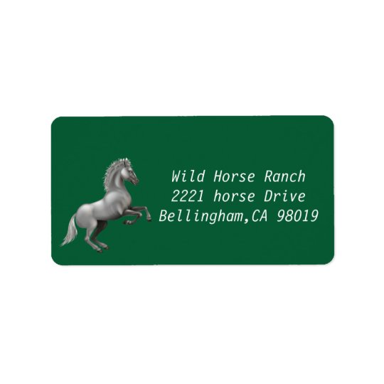 Wild Horse rearing up Label