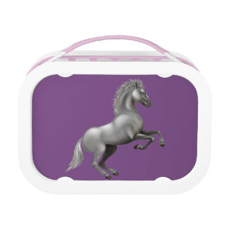 Wild horse rearing up lunch box