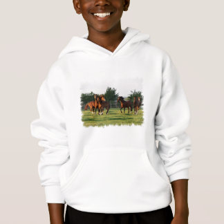 Wild Horse Roundup Hooded Kid's Sweatshirt