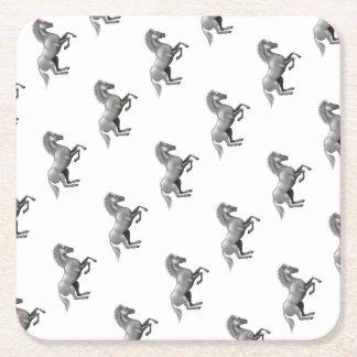 Wild horse square paper coaster