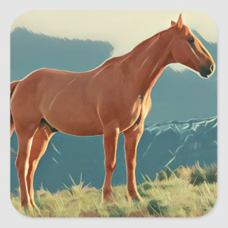 Wild Horse Square Sticker