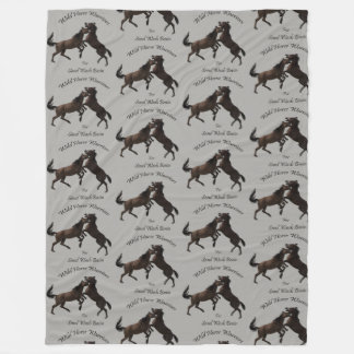 Wild Horse Warriors Fleece Blanket