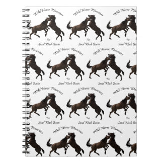 Wild Horse Warriors for Sand Wash Basin Notebook