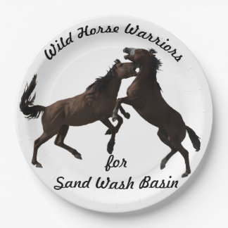 Wild Horse Warriors for Sand Wash Basin Paper Plate