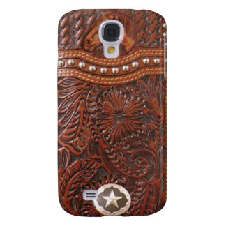 """Wild Horse"" Western Tooled Leather Look IPhone 3"