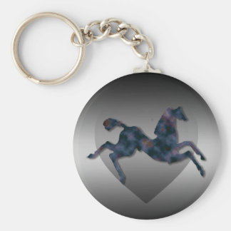 Wild Horses #13 Twilight Mist Basic Round Button Keychain