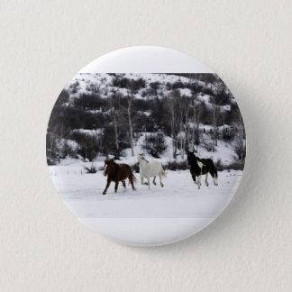 Wild Horses 2 Inch Round Button