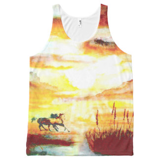 Wild Horses. All-Over-Print Tank Top