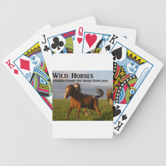 Wild Horses Bicycle Playing Cards