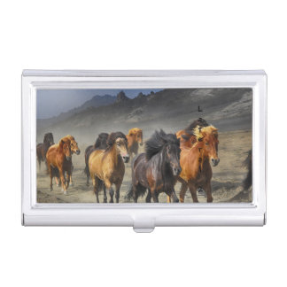 Wild Horses Business Card Holder