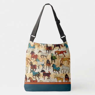 Wild horses Cross Body Tote Bag