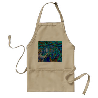 Wild  Horses In Brown and Teal Standard Apron