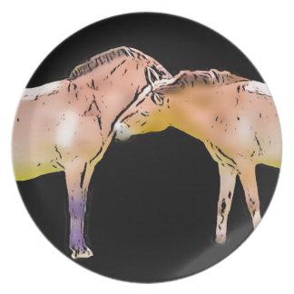 Wild Horses Kissing Plate