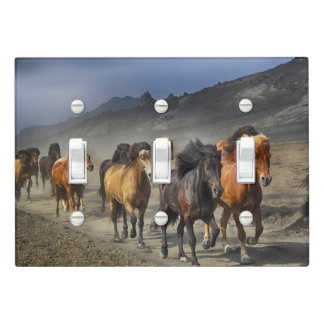 Wild horses light switch cover