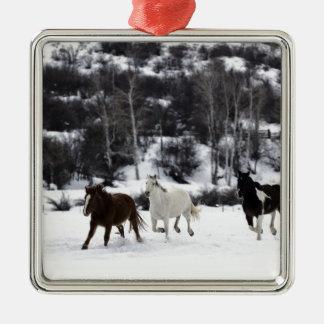 Wild Horses Metal Ornament