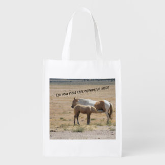 Wild Horses Nursing Reusable Grocery Bag