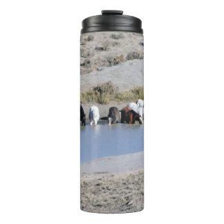 Wild Horses of Sand Wash Basin,  Colorado Thermal Tumbler