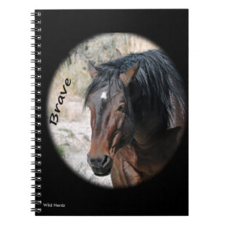 Wild Horses of Sand Wash Basin Spiral Note Books