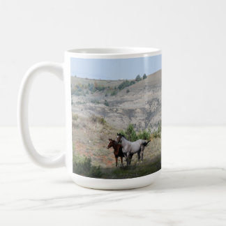 Wild Horses of Theodore Roosevelt National Park Coffee Mug