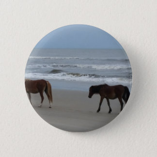 Wild Horses Outer Banks 2 Inch Round Button