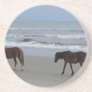 Wild Horses Outer Banks Coaster