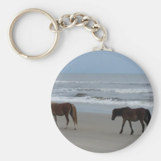 Wild Horses Outer Banks Keychain