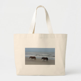 Wild Horses Outer Banks Large Tote Bag
