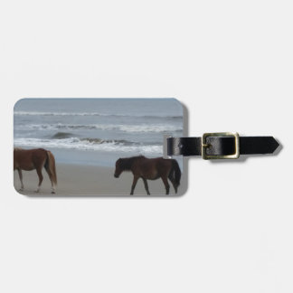 Wild Horses Outer Banks Luggage Tag