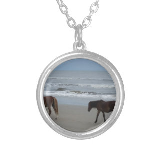 Wild Horses Outer Banks Silver Plated Necklace