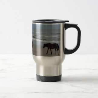 Wild Horses Outer Banks Travel Mug