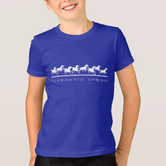 Wild horses running Authentic Cowboy T-Shirt