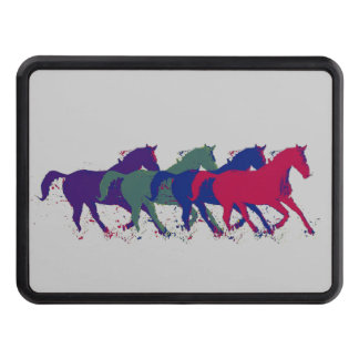 wild horses running trailer hitch cover