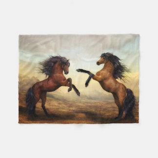 Wild Horses Small Fleece Blanket
