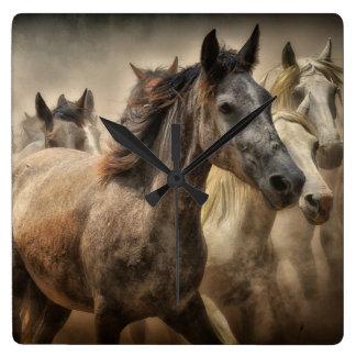 Wild Horses Wallclock