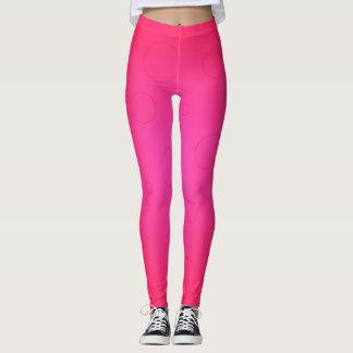 Wild Hot Pink Dance Sports Running Leggings