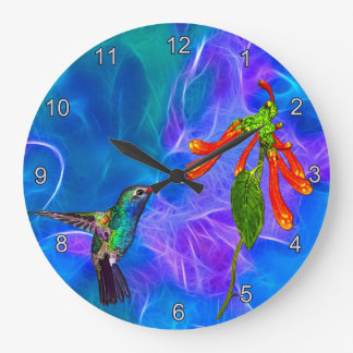 Wild Hummingbird Bird-lover's Art Clock