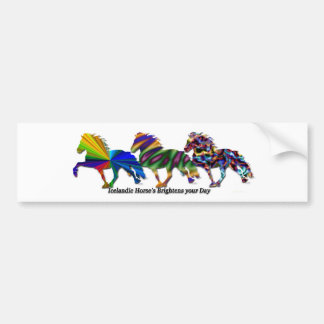 Wild Icelandics Bumper Sticker