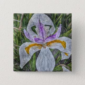Wild Iris Button