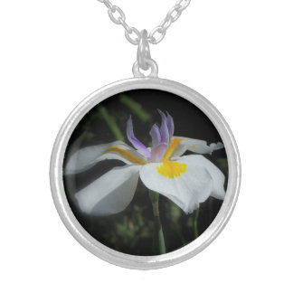 Wild Iris Sterling Silver Necklace