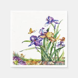 Wild Irises Disposable Napkin