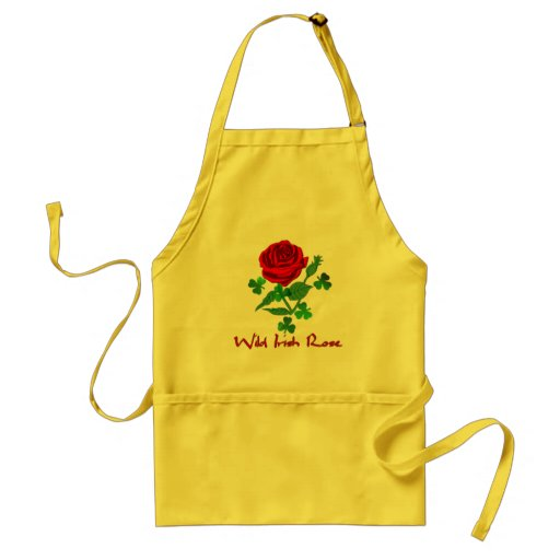 Wild Irish Rose Adult Apron