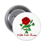 Wild Irish Rose Pinback Buttons